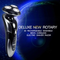 Electronic Rechargeable Shaver Triple Blade 3 Segment Electric Shaving Razors Men Face Care 3D Floating