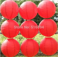 Free shipping 10pcs/lot 8''(20cm) Round paper lanterns Red paper lanterns lamps festival wedding decoration party lanterns