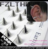 No pierced male stud earring magnet stud earring magnet punk stud earring size