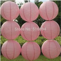 Free shipping 10pcs/lot 8''(20cm) Round paper lantern Peach pink paper lanterns lamps festival wedding decoration party lanterns