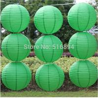 Popular Round paper lanterns 10pcs/lot 8''(20cm)  Grass green paper lanterns lamps festival wedding decoration party lantern