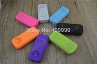 100pcs Power Bank Bateria Externa  5600mAh LED Flashlight External Battery Charger USB 1 Port + 7 colors no retail box