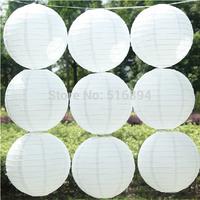 Free shipping 10pcs/lot 8''(20cm) Round paper lantern White paper lanterns lamps festival wedding decoration party lanterns