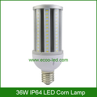 Outdoor LED Corn Light Bulb 36W E40 E27 LED Street Light 360 degree angle 3800lm output SAMSUNG 5630 LED Chips IP64 LED Corn