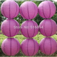Voilet/Deep rose 10pcs/lot 8''(20cm) Round paper lantern Free shipping paper lantern festival wedding decoration party Supplies