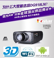 Android 4.2 1080P WiFi Smart led Short range Projector 3d home theater projector projetor Full HD Portable Video TV Beamer