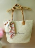 Simple pastoral straw bag 2014 new handbag shoulder bag bohemian beach rattan