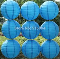 Deep /Royal blue 10pcs/lot 8''(20cm) Round paper lantern Free shipping paper lantern festival wedding decoration party Supplies