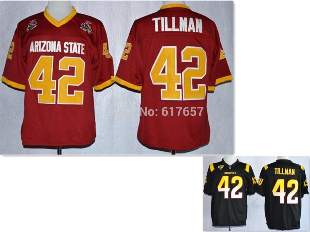 Free Shipping NCAA Arizona State Sun Devils #42 Pat Tillman Maroon 1997 Rose American College Football Throwback Jersey Cheap(China (Mainland))