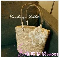 2014 new handbag woven handbags Korean version of the lovely rattan straw bag beach bag