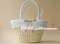 Korean version of the new shoulder bag straw beach bags woven rattan bag