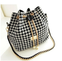 Free Shipping 2014 New Women Handbag National Trend Bohemia Style Print Chain Drawstring Bucket Bag Women Messenger Bag SD50-391