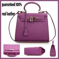 Genuine Leather 2014 New Women Messenger Handbag free Shipping Women Shoulder bags Totes