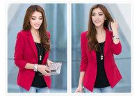 2014 New Women Plus Size XL-4XL Short Temperament Cultivate Morality Long Sleeve Blazer 5005-2 , Free Shipping