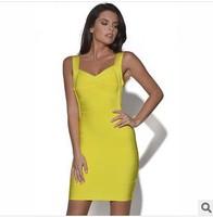 Fashion Women's sexy bandage dress bandage tight body shaping slim hip one-piece dress party dress evening S-XL