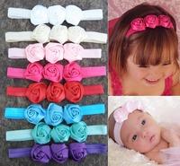 2014 Beautiful 3 roses Headband  Infant Toddler Headband Flower Headwear Christmas gift cute rose hairband Free drop shipping