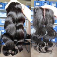 6A Brazilian Virgin Hair 4pcs Lot 1pc Middle Part Silk Base Closure With 3pcs Hair Bundles Human Hair Extension Body Wave