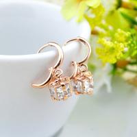gold zircon earrings fashion  earrings for women brand jewelry  earrings for wedding Free shipping
