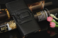 Black Leather Case Pouch Holster Belt Clip / Belt Loop For Samsung Galaxy S5 i9600