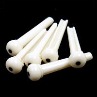 KINGZER Small A Set of White Folk Guitar Bone Nut Bony Saddle 6 Bridge Pins