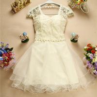 New 2014 Beading Sweetheart Bridesmaid Dress Floral Embroidery Princess Dress Luxury Organza Bridesmaid Dress