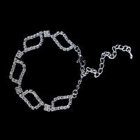 Min order $15, 2014 fashion plated silver bracelet, square bike chain rhinestone bracelet, gold filled bracelets for women
