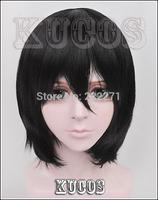 FREE SHIPPING Anime Haikyuu!! Lover Shimizu Kiyoshiko Short Black Full Lace Cosplay Wig Costume Heat Resistant + Cap