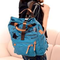 2014 canvas shoulder bag backpack fashion women kanken multi-purpose More color college bags girls