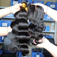 "Grade 5A 1 Piece Silk Base Lace Top Closure with 3Pcs Hair Bundles,4pcs/lot,Brazilian Virgin Hair Extension,Body Wave 10""-32"""