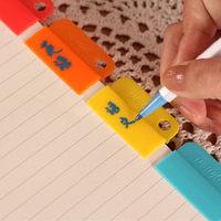 2014 Cute candy-color stationery notes folder random clip photo clip bookmark folder kawaii school supplies chair diary 6PCS