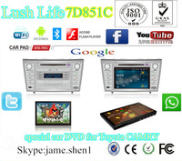 special car DVD player for Toyota CAMRY with Win CE 6.0 and Android 4.0 OS,GPS/BT/iPod/RDS/TMC/PIP/Radio/3G/WIFI/DVB-T MPEG4/etc