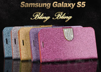 Bling Crystal Buckle PU Leather Case Cover For Samsung Galaxy S5 I9600/G900