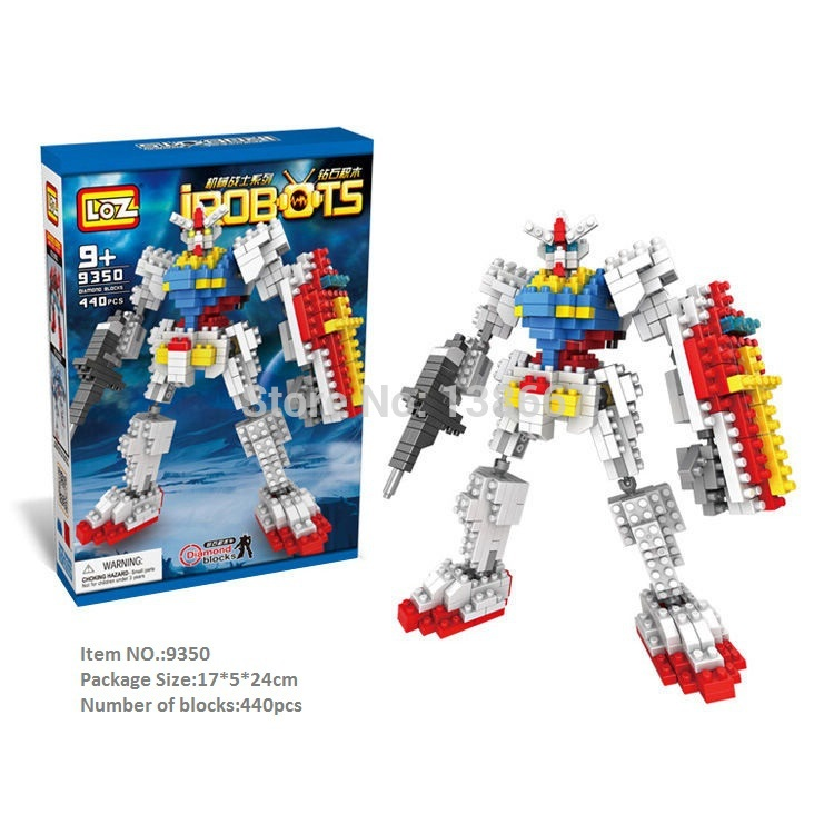 LOZ iRobot brocks Minifigure toys Construction set toys LOZ blocks assemble toys Square blocks Warrior(China (Mainland))