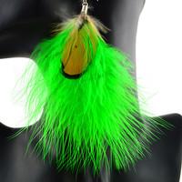 ER-50039 2014 Hot Sell VintageTear Drop Loop peacock feather Earrings