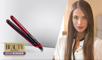Beauty Awards 2014 Winner Remington S9600 Tstudio Silk Ceramic Flat Iron,1 Inch Dual Voltage Digital Display Hair Straightener