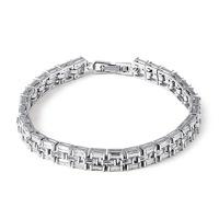 Rectangle full crystal jewelry  2014 shining transparent AAA  zirconia crystal bracelet