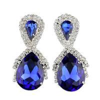 2014 new fashion big stud water drop earrings royal blue color designer inspired earrings