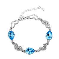 Austrian crystal  2014  anti radiation schtroumpf  AAA  zirconia sea blue stone crystal bracelet
