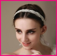 Free shipping 2014 bridal wedding hair accessories headwear Fashion luxury crystal rhinestone wedding bridal hair band H26