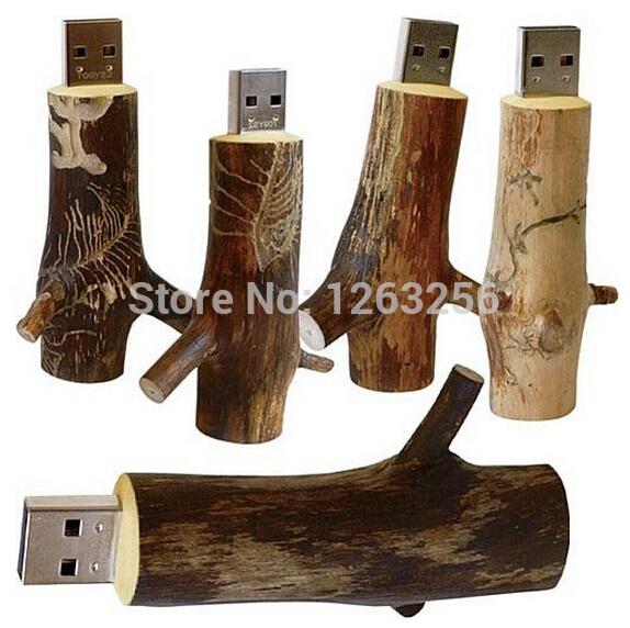 Wholesales New Novelty Flash disk Wooden model usb 2.0 branch memory flash stick pen thumb drive / disk free shipping(China (Mainland))
