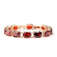 Rose gold plated 2014 top quality venus AAA zirconia bracelet, Garnet red champagne crystal bracelets for women