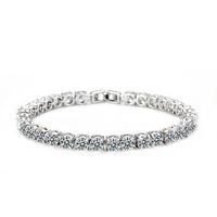 Valentine's Day gift  2014 New fashion super flash AAA zircon round full crystal luxury bracelet