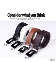 Fashion Unisex Waist Belt Women Men Faux Leather Plastic Buckle Waistband Strap Free shipping