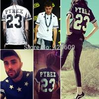 Hot Sale European Pyrex 23 Men T Shirt Brand Summer Casual Short Sleeve Hip Hop Tops Cotton Slim Fit Street Tees Women T-Shirts