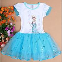 New 2014 summer kids TUTU dress,baby girl Elsa frozen dress, sequin dresses fashion baby & kids clothing