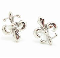 Best price  Men's French shirt cufflinks cuff  links silver flower metal  free shiping