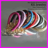 free ship! 10pcs Latest mixed color Pu leather Alphabet C word charm bracelet,  wristband bangle bracelet men and women bracelet