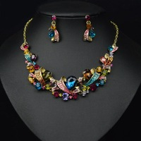 ST-50039 Fashion wedding bridal jewelry sets crystal choker necklace Free shipping