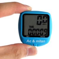 KINGZER 10 Functions Waterproof Bicycle Bike LCD Backlight Computer Speedometer Blue