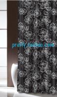 Fashion classic flower full terylene waterproof shower curtain 180x180